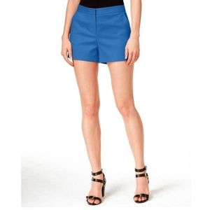 Cece By Cynthia Steffe Double-Weave Shorts Blue